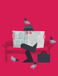 Adrian Johnson Studio Ltd. > Work Stealth Economics #illustration