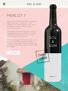 Sol & Sun - Amy Martino - Design + Art Direction #design #web #wine
