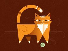 gill_red___orange.jpg (400×300) #illustration #cat