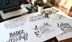 Bob Dylan´s HAND LETTERING EXPERIENCE #drawn #hand #typo #typography