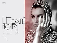 Le Café Noir | Volt Café | by Volt Magazine #beauty #design #graphic #volt #photography #art #fashion #layout #magazine #typography