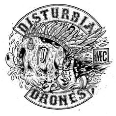 supersonic electronic / art - Drew Millward. #bikes #patch #disturbia #biker #motorcycle #club
