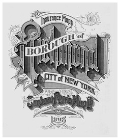 Sanborn Fire insurance map Borough of Richmond 1898 typography