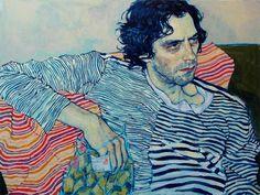 Hope Gangloff - BOOOOOOOM! - CREATE * INSPIRE * COMMUNITY * ART * DESIGN * MUSIC * FILM * PHOTO * PROJECTS #stripes #figure #portrait #painting #drawing