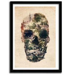 Skull Town by Ali Gulec #print #art