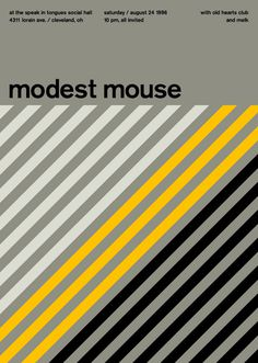 modest mouse at speak in tongues, 1996 - swissted #minimalism #concert #music #poster
