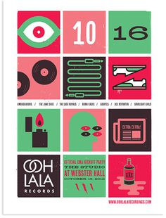 Ooh La La Records CMJ poster #haigh #print #design #screen #martino #poster
