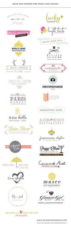 Dear Miss Modern Logos #logo #logotype #identity