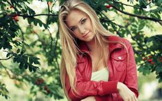 Blonde Girl With Red Jacket