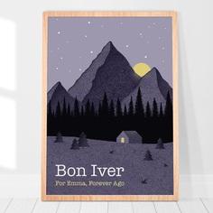 Bon Iver poster For Emma Forever Ago poster Justin Vernon | Etsy