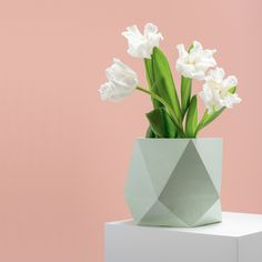 The Marble Shine Collection by frauklarer Presenting: triangulus large in mint #concrete #concretedesign #marble #design #productdesign #in