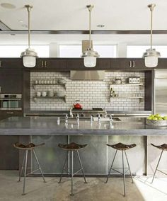 Interior Design Ideas: 12 Concrete Interiors Photo #interior #design #decor #kitchen #decoration