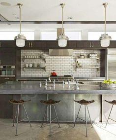 Interior Design Ideas: 12 Concrete Interiors Photo #interior #design #decor #kitchen #decoration