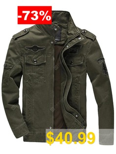 Men #Casual #Large #Size #Outdoor #Sports #Jacket #- #ARMY #GREEN