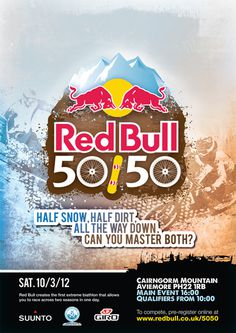 50 / 50 Brand #bull #red #snow #dirt