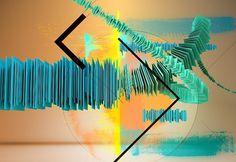 Audio in Final Cut Studio - Cover 2009 - semafore #sculpture #dimension #waveform #mint #direction #edit #blue #audio #light