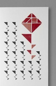 Sant Jordi Lleida — by Javier Suárez #print #red #branding #blocks