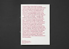 UPF — Cla-se bcn #editorial #brochure #typography