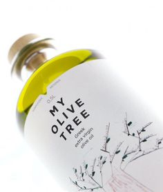 olive oil #illustration #packaging #label #bottle