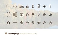 Icons #springs #forest #icons #branding