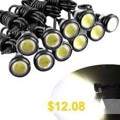 10X #Hawkeye #Light #23mm #Eagle #Eye #Light #Car #Fog #DRL #12V #- #BLACK