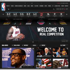 NBA .com Concept UI Design ( Personal Project ) on Behance #sports #web #basketball