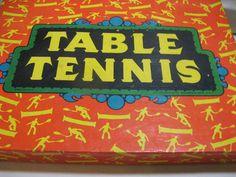 Vintage Table Tennis Ping Pong Game #pong