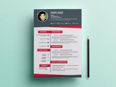 Free Flat Creative Resume Template for Job Seeker