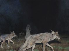 Night_hunt #predators #night #coyote #hunting #painting