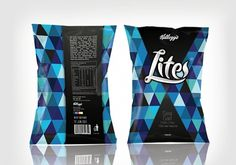 Kellogg's Lite Chips - TheDieline.com - Package Design Blog #packaging #food #pattern #geometric
