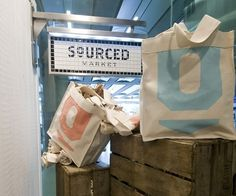 Sourced Market, St Pancras International | We Heart; Lifestyle & Design Magazine #interior #tiles #market #sign #design #box #wood #sourced