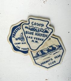 3 vintage camp patches by noodleandlouvintage on Etsy #patches