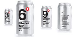 Helvetica Beer Packaging
