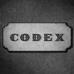 All sizes | Codex | Flickr - Photo Sharing! #film #classic #vintage #typography