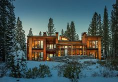 Contemporary Refuge Overlooking Lake Taho: Martis Camp House #architecture #contemporary