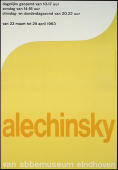Alechinsky Van Abbemuseum in Eindhoven, designer / art director: Crouwel, Wim, printer: Steendr. The Young & Co., #poster