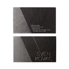 Sven Kovac - Cul-de-sac #card #identity #typography