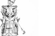Chrissie Houtkooper / designer / illustrator #axis #white #mundi #print #black #fashion #1