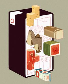 Cool fridge illo