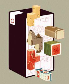 Cool fridge illo #illustration #fridge