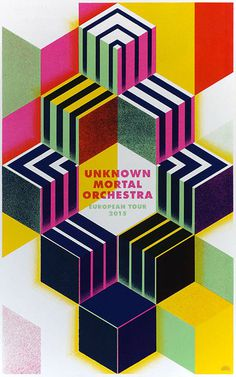 Unknown Mortal Orchestra European Tour 2015 Poster, Rainbow Posters #overlay #color #poster