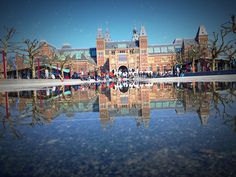 Amsterdam puddleography | Flickr - Photo Sharing! #amsterdam #david #walby #reflection #puddle #wall-b