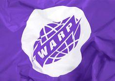 Warp Records by Till Wiedeck #logo #symbol #purple