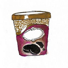 cookies & cream | Flickr: Intercambio de fotos #aijon #acuarela #draw #paint #illustration #jorge #cookiescream