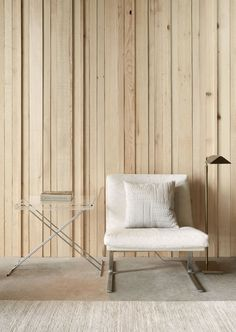 Neutral sitting area. Cabin at Longbranch by Olson Kundig. © Kevin Scott. #detail #neutral #woodenwall