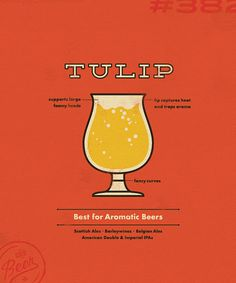 Sauced Tulip Glass Poster #beer #poster