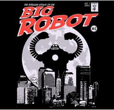 Camiseta - Big Robot II - Mister Black Tee - Creador de camisetas #robot #big #tee #shirt