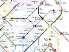 Rockmap™ by Ernesto Lago #underground #infographics #rock #map #datavis #subway #data #ernesto #visualization #music #lago
