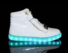 Light Up Shoes Womens Orion (White)