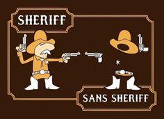 Sans Sheriff #font #serif #sans #retro #pun #shirt #typography